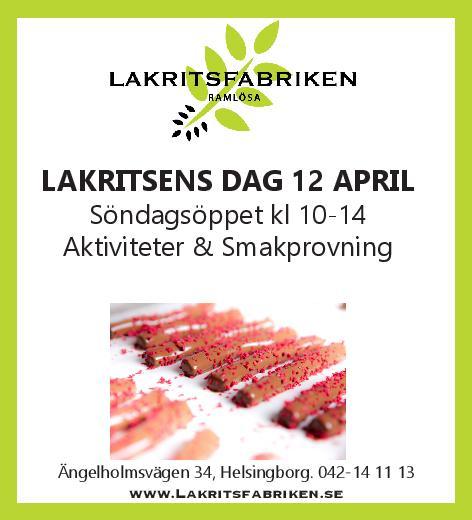 Lakritsens Dag 12 april